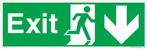 Running man Down Fire Exit